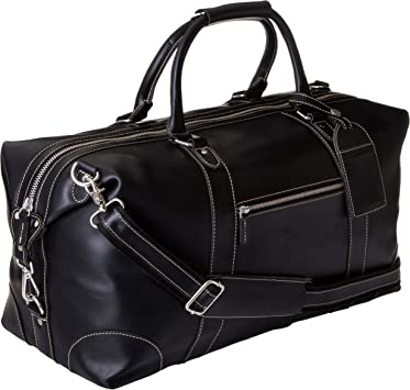Men Real Leather Outdoor Gym Duffel Bag Travel Weekender Overnight Luggage Gift