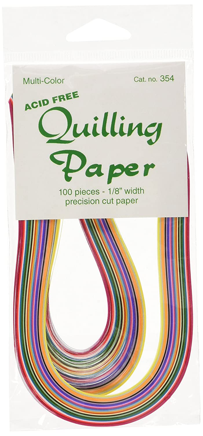 LAKE CITY CRAFT Quilling Paper 1/8-Inch 100-Pack, 25 Colors Notions - In Network Q354