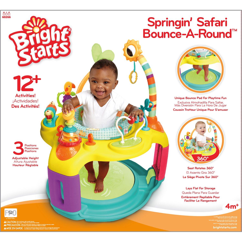 Bright Starts Tapis de Jeu Springin Safari Bounce A Round