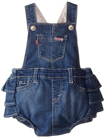 4e025214d357 Amazon.com  Levi s Baby Girls  Dora Denim Romper