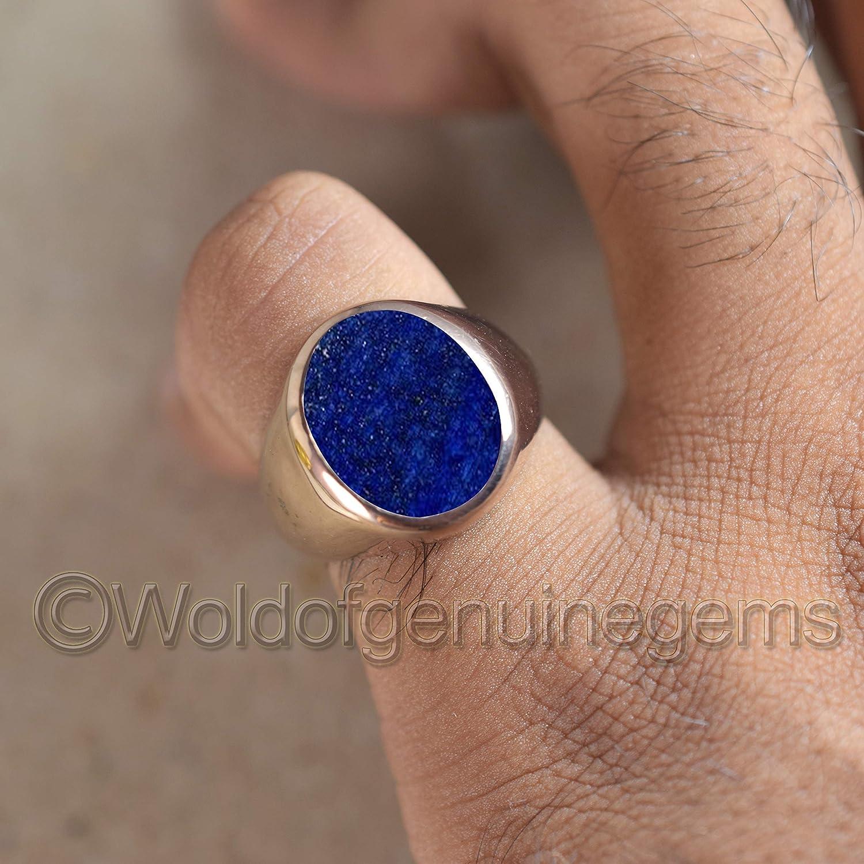 Handmade Lapis Lazuli Mens Ring,Gemstone Ring,Sterling Silver Ring,925 Silver Ring Statement Ring,September Birthstones Ring,Vintage Ring