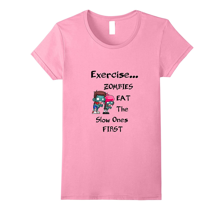 Womens Exercise Zombies Novelty Heather-Awarplus