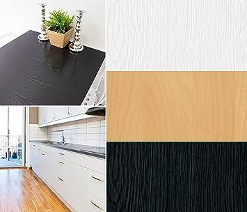 Selbstklebende Folie Tapete Klebefolie Für Möbel Küche Tür U0026 Deko Länge  800cm Fototapete Holz Holzoptik Weiß