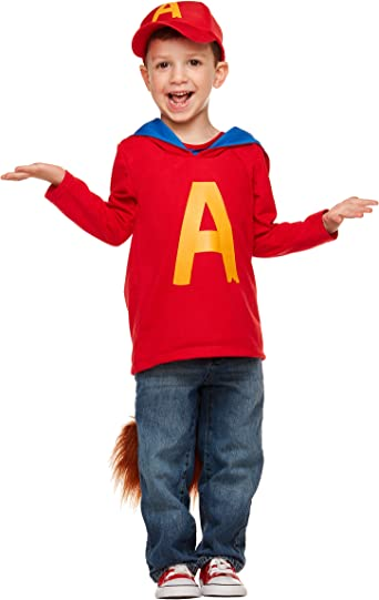 Spirit Halloween Toddler Alvin And The Chipmunks Costume Alvin Red Amazon Ca Clothing Accessories