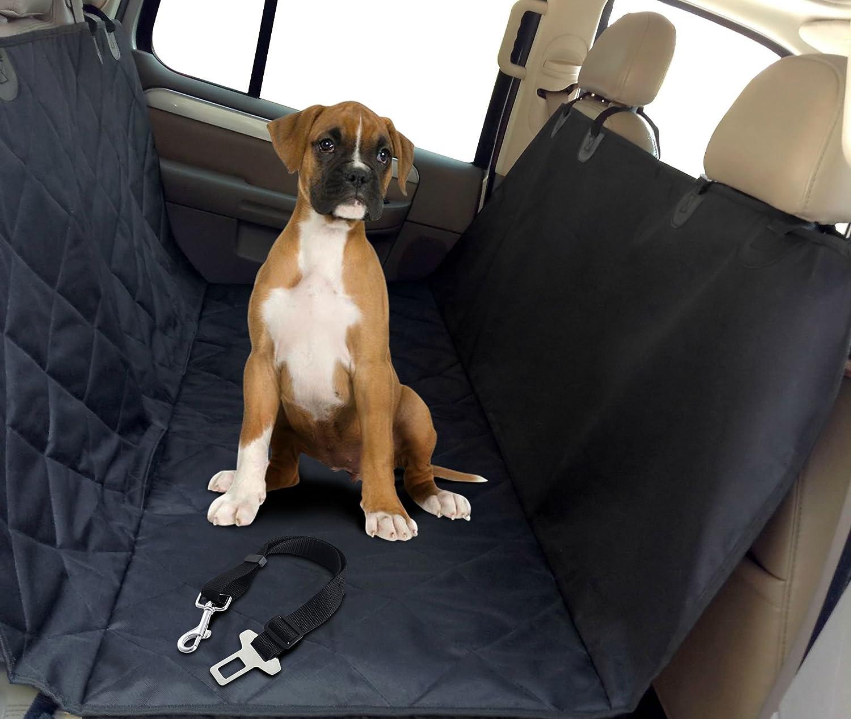 Pet Seat Belt >> My Pet Boutique Pet Seat Cover Hammock With Dog Seat Belt