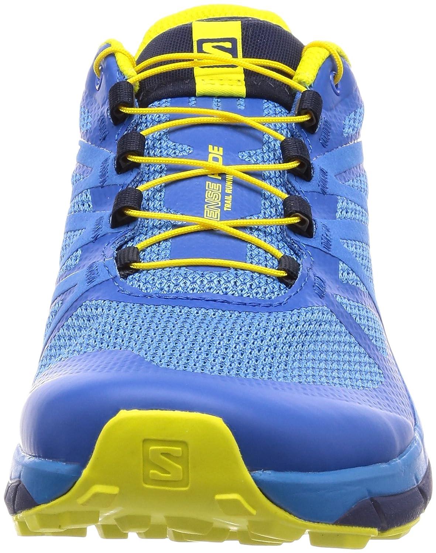 Salomon Sense Ride, Chaussures de Trail Homme, Bleu (Snorkel Blue/Indigo Bunting/Sulphur 000), 41 1/3 EU