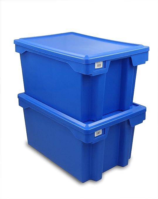 Tayg 263002 Euro-caja para almacén y transporte 6430, Azul, 600 x 400 x 300 mm: Amazon.es: Bricolaje y herramientas