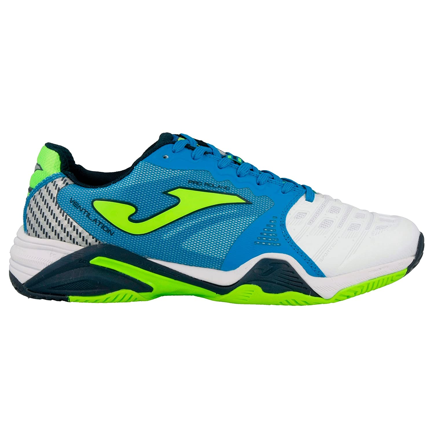 Joma T _ prolas _ 702 Zapatos Running T. Pro Roland All Court 702 BIANCO-ROYAL Shoes: Amazon.es: Deportes y aire libre