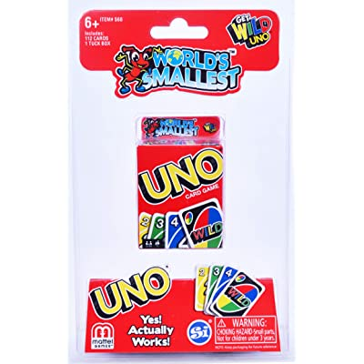 Worlds Smallest Uno, Multi (568): Toys & Games