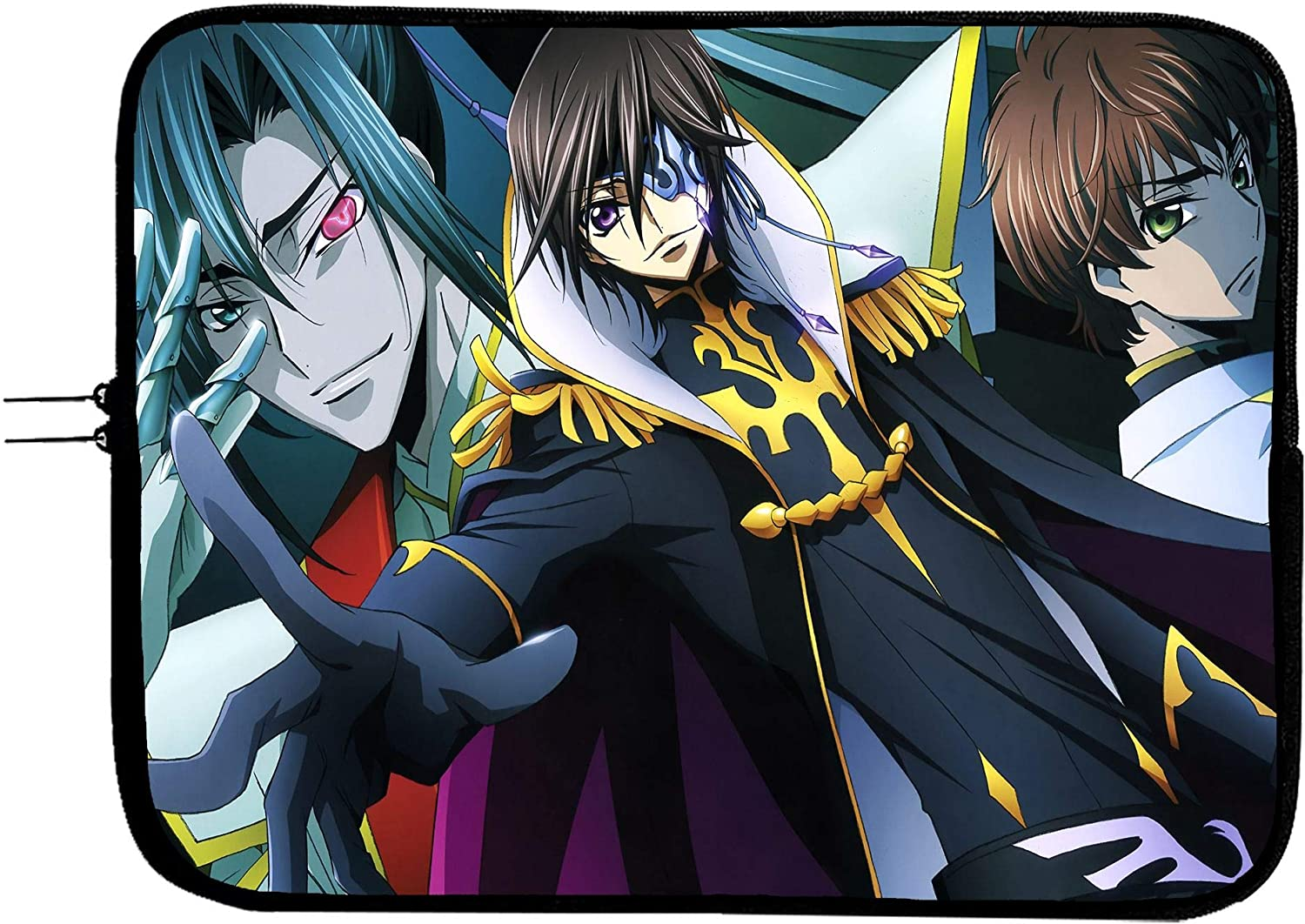 Code Geass Anime Laptop Sleeve Bag 15 Inch Notebook Case Anime Mousepad Surface MacBook Pro/MacBook Air Surface Pro Laptop/Tablet Water Repellent Neoprene Cushioned Case