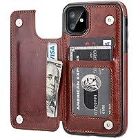 Capa carteira para iPhone 11 com suporte para cartão, OT ONETOP de couro PU com compartimentos para cartão, fecho…