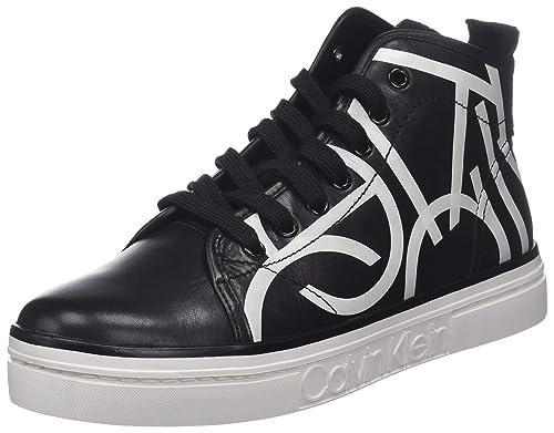 Calvin Klein Kayce Print, Zapatillas Altas para Mujer: Amazon.es: Zapatos y complementos
