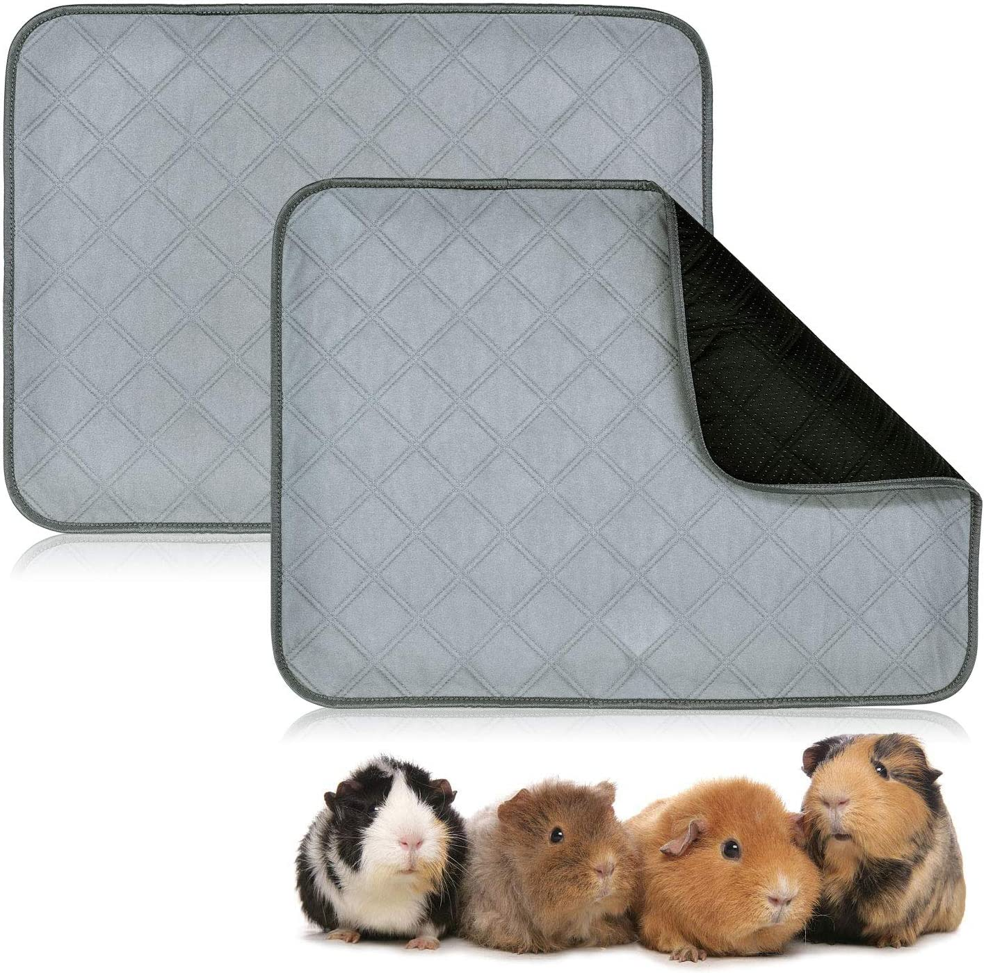 Waterproof Anti-Shrink Design Cute Blue paws Guinea Pig Fleece Cage Liner Custom Sizes Offered Handmade With Love For Guinea Pigs