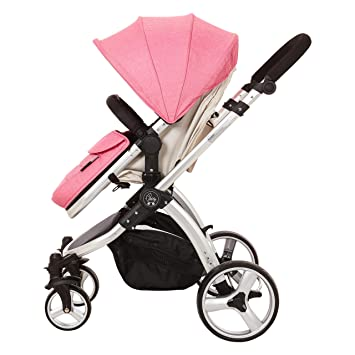 Amazon.com: Elle bebé viaje Convertible carriola rosa: Baby