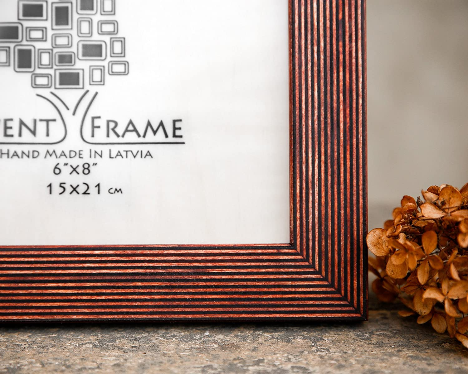 Brown Picture Frame, Wood Photo Frame, Rustic Frame SIZES 4x4 4x6 ...