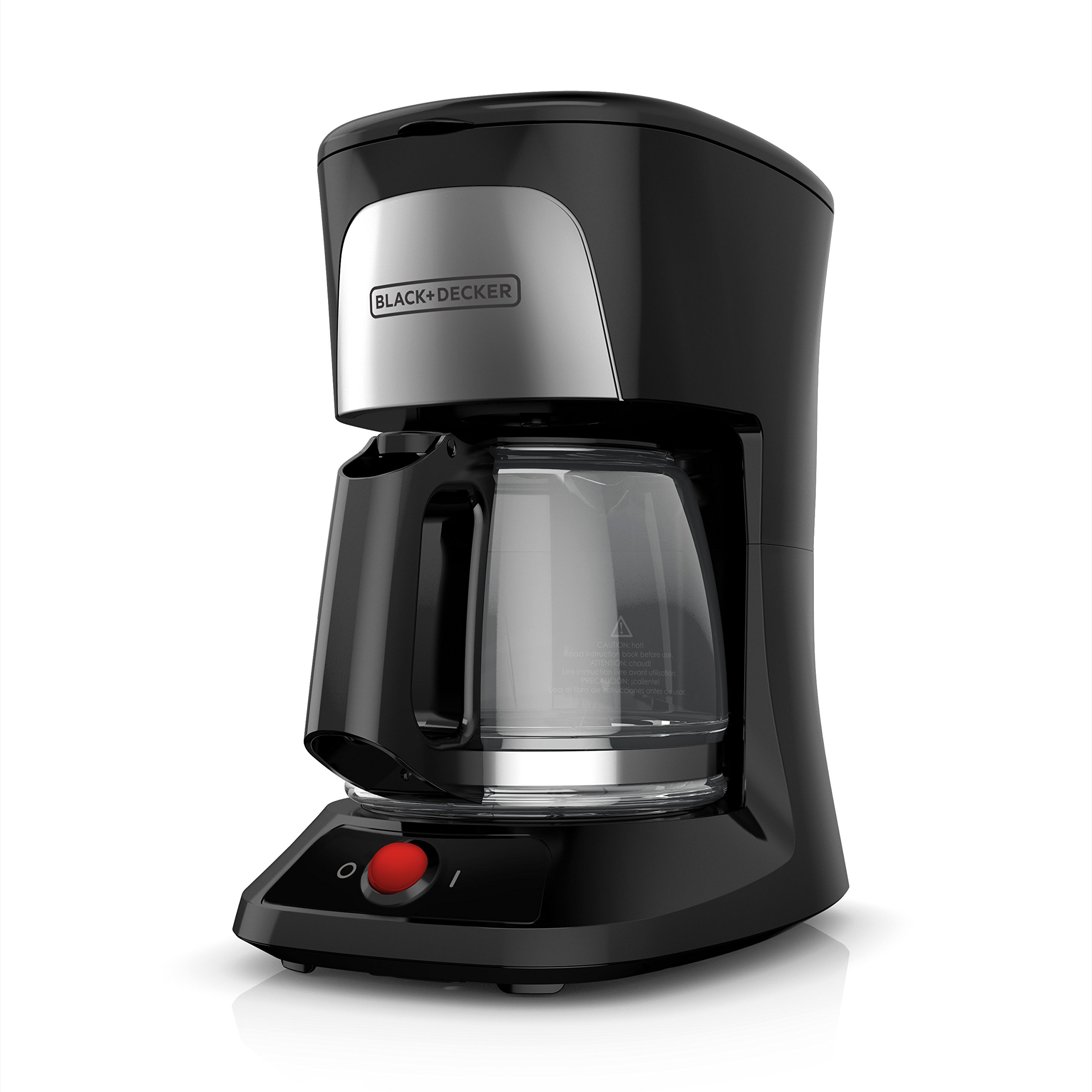 BLACK+DECKER 5-Cup Coffeemaker with Duralife Glass Carafe, Black, CM0555B by BLACK+DECKER