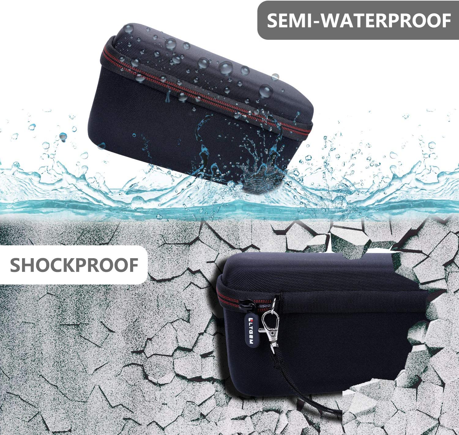 Travel Protective Carrying Storage Bag LTGEM EVA Hard Case for DOSS SoundBox Plus Portable Wireless Bluetooth Speaker