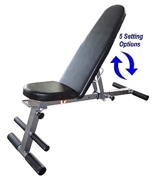 Banco de entrenamiento para pesas, plegable y ajustable en plano ...