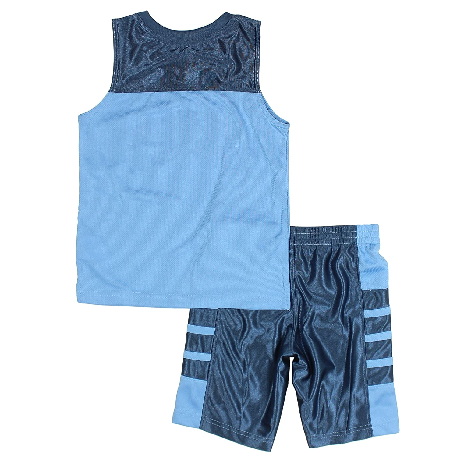 University Blue Nike Air Jordan Baby Boys 2-Piece Shirt and Short Set