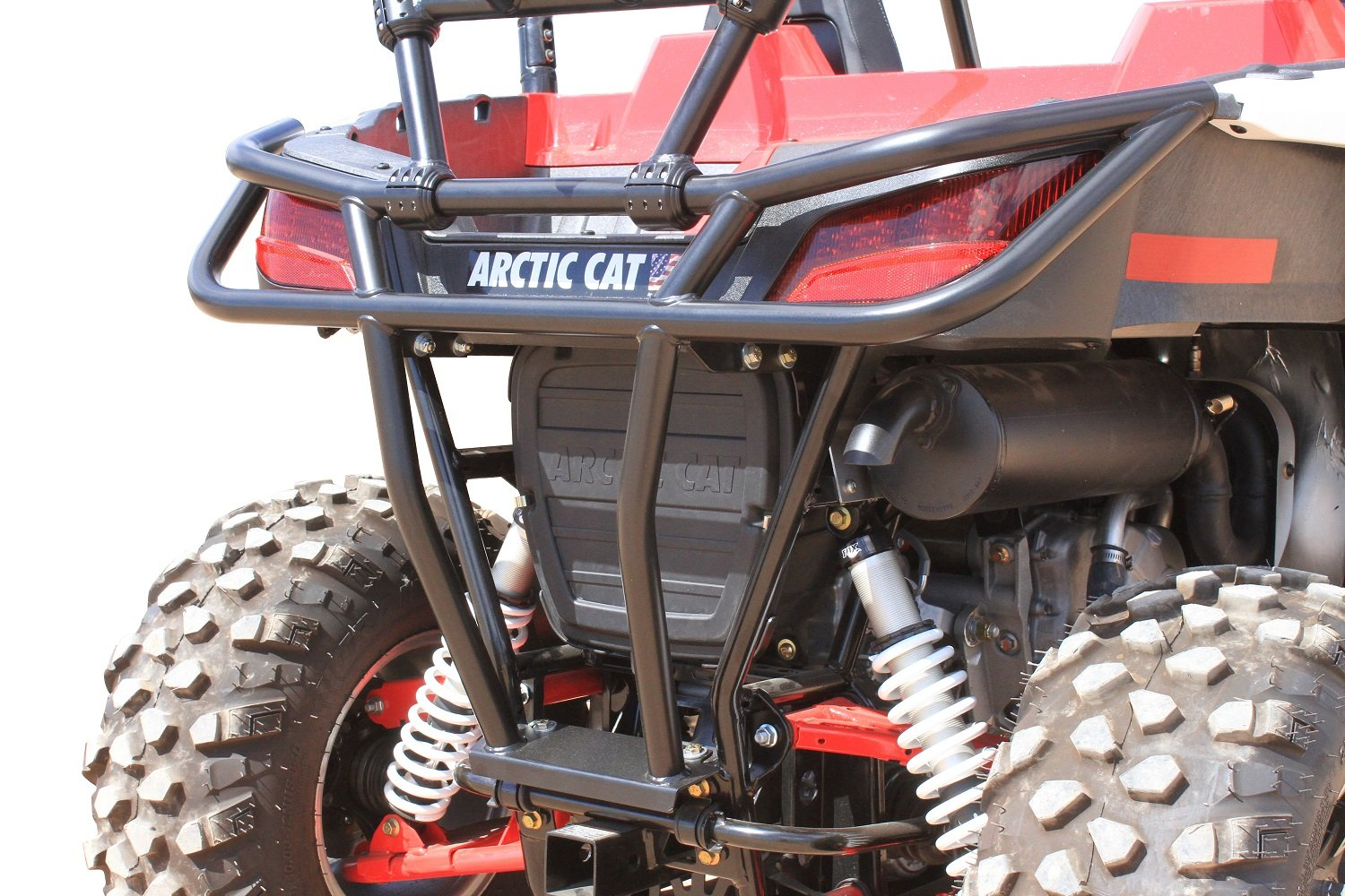 Dragonfire Racing RockSolid Black Rear Bumper Arctic Cat Wildcat Trail/Sport