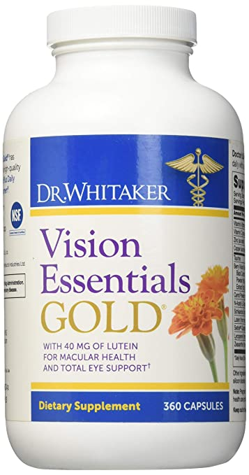 Dr. Whitakers Vision Essentials Gold - Eye Health Supplement with 40 mg of Lutein Plus