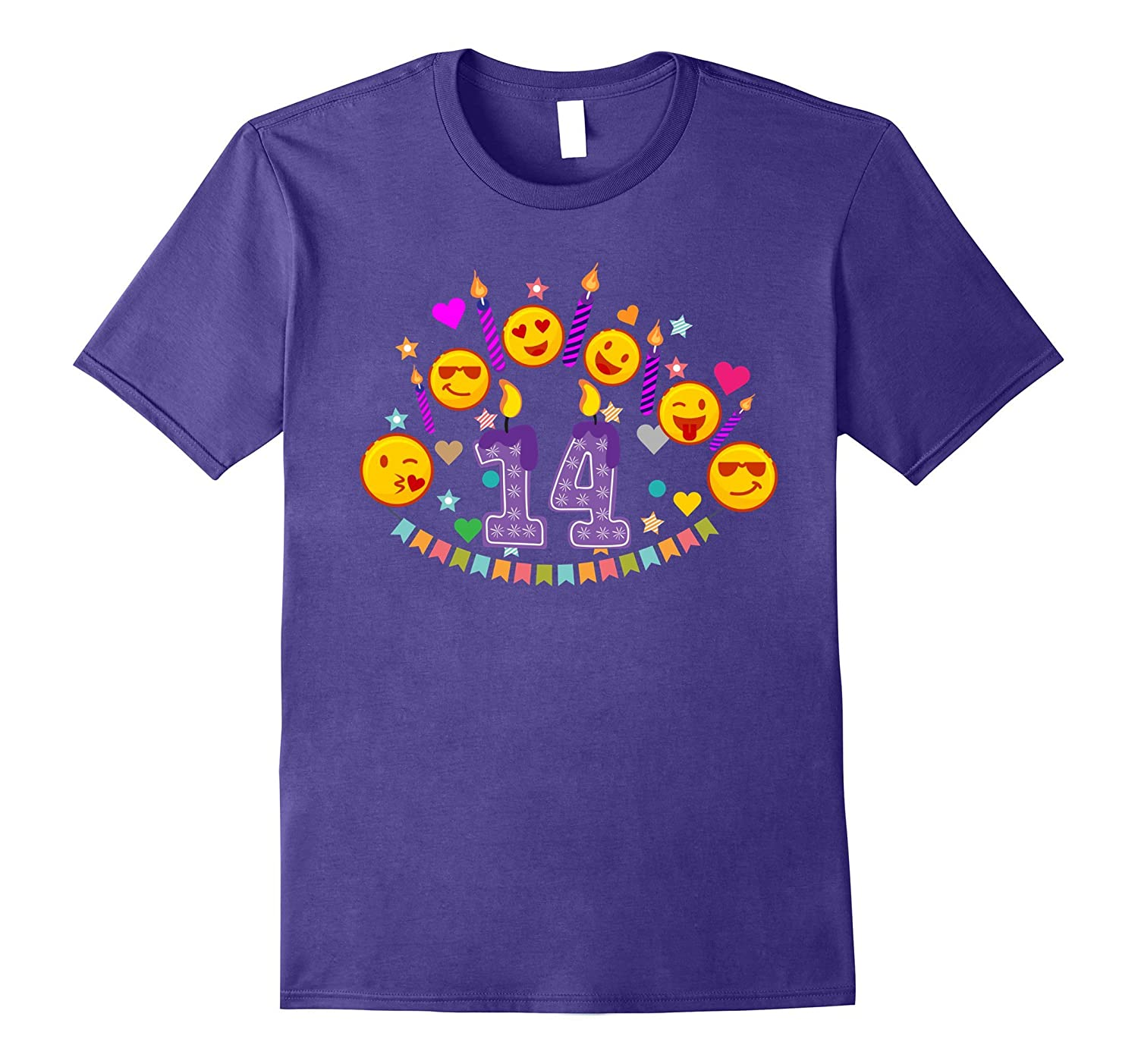 14th Birthday Emoji T-Shirt for 14 Year Old Awesome Teens-CD