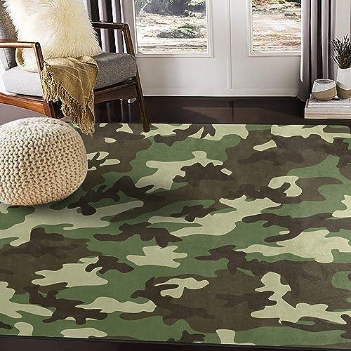 ALAZA Military Camouflage Camo Area Rug Rug