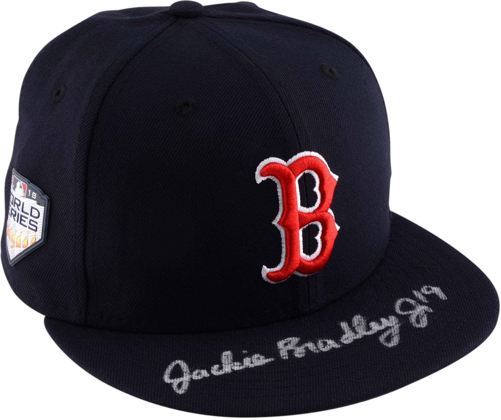 Jackie Bradley Jr. Boston Red Sox 2018 MLB World Series Champions Autographed World Series Cap Fanatics Authentic Certified