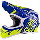 O'Neal 3Series Fuel Kinder MX Helm Blau Neon Gelb Hi-Viz Youth Motocross Enduro Quad Cross, 0623-51