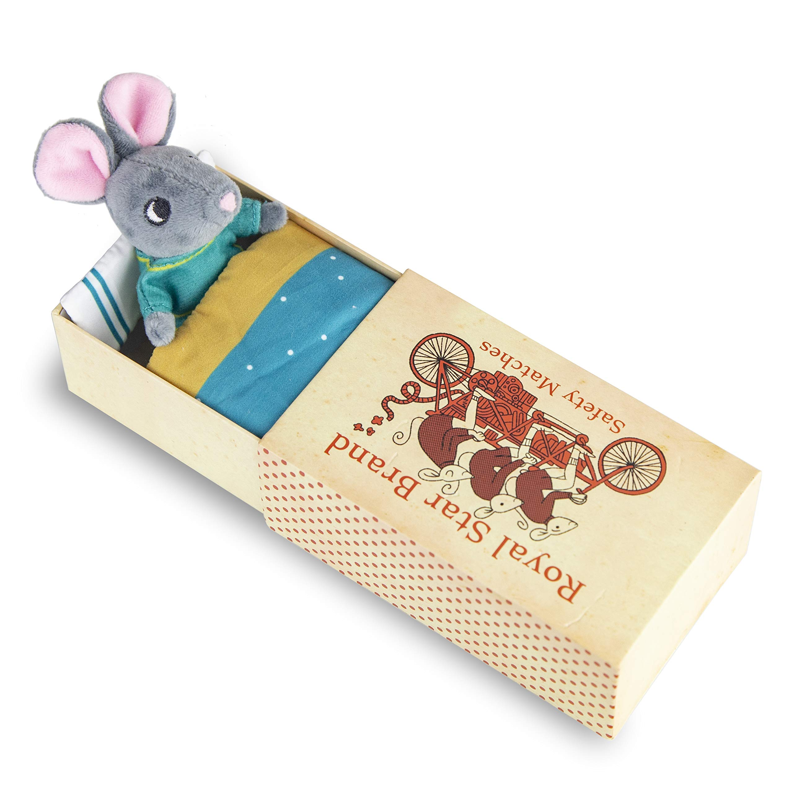 Foothill Toy Co. Matchbox Mouse - Playset with Plush Toy Mouse in a Box, Harper by Foothill Toy Co.