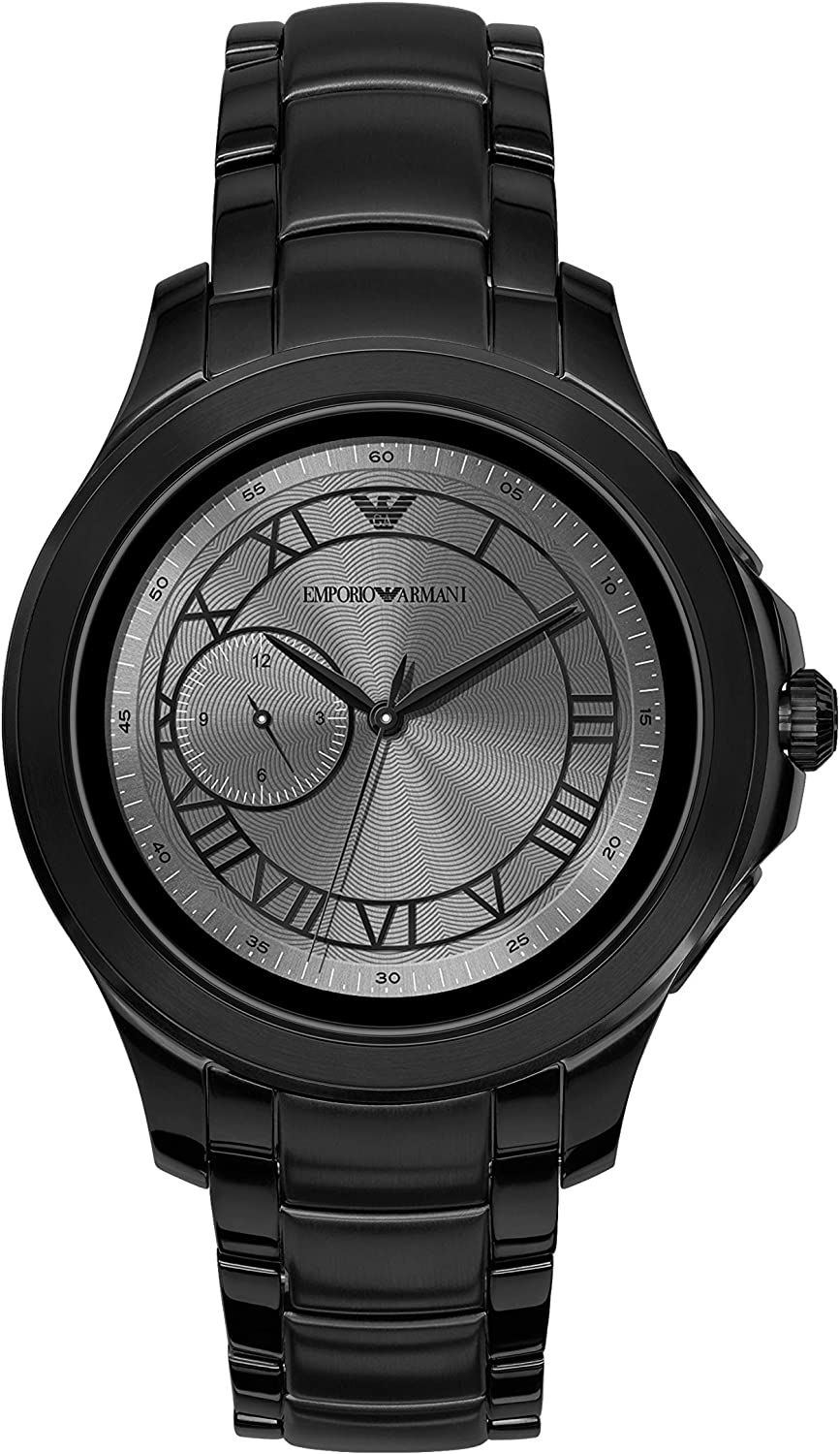Emporio Armani Mens Dress Smartwatch 2 Powered with Wear OS by Google with Heart Rate, GPS, NFC, and Smartphone Notifications