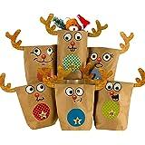 Adventskalender DIY Elch Set braun 24 Geschenktüten zum