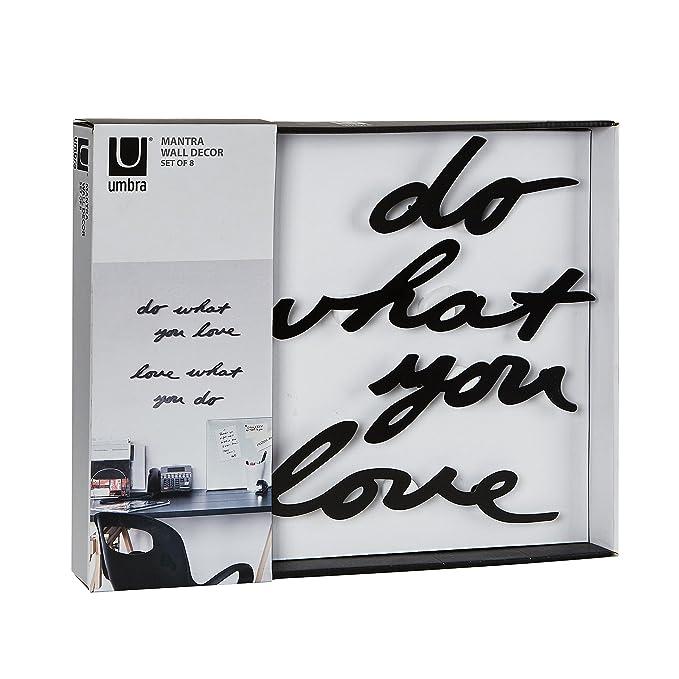 Umbra mantra wall decor phrase do what you love amazon ca home