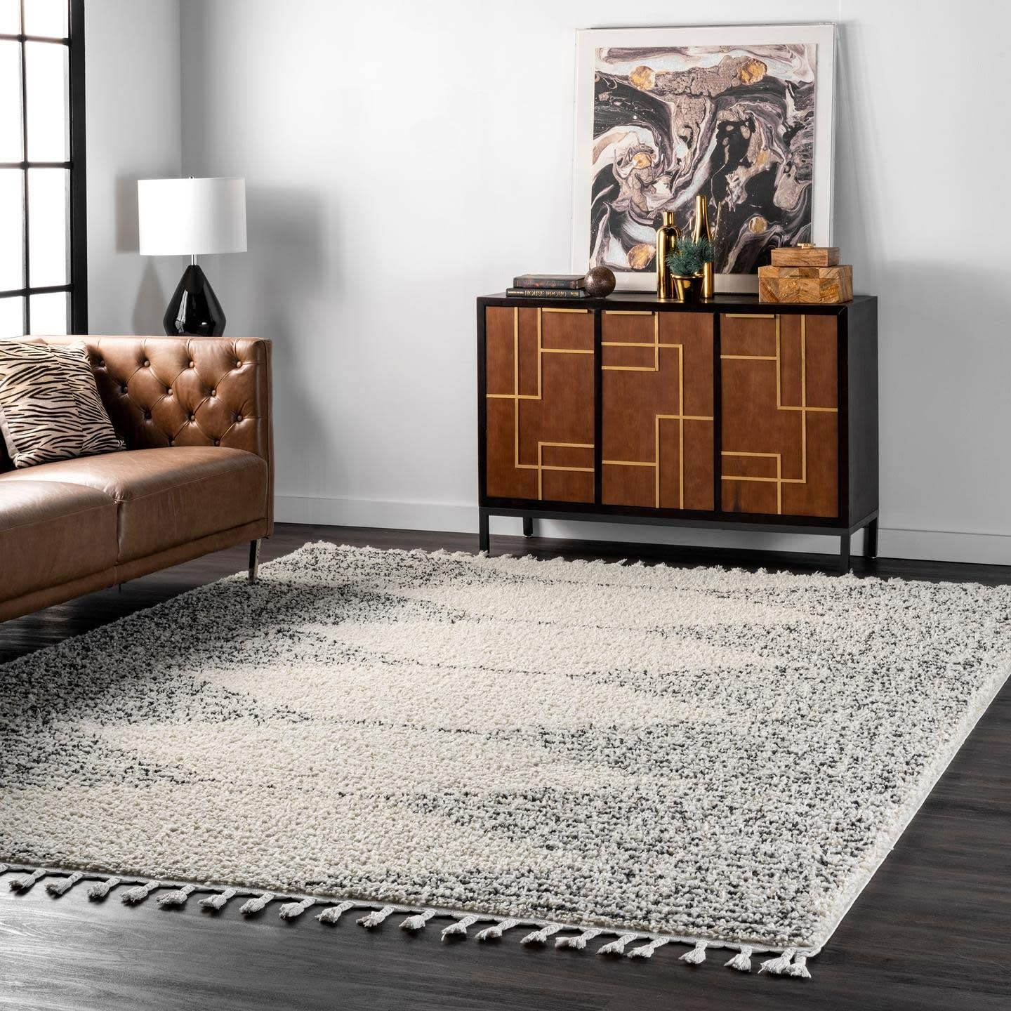 nuLOOM Bria Moroccan Large Shag Rug, 10 2 x 14 , Off White