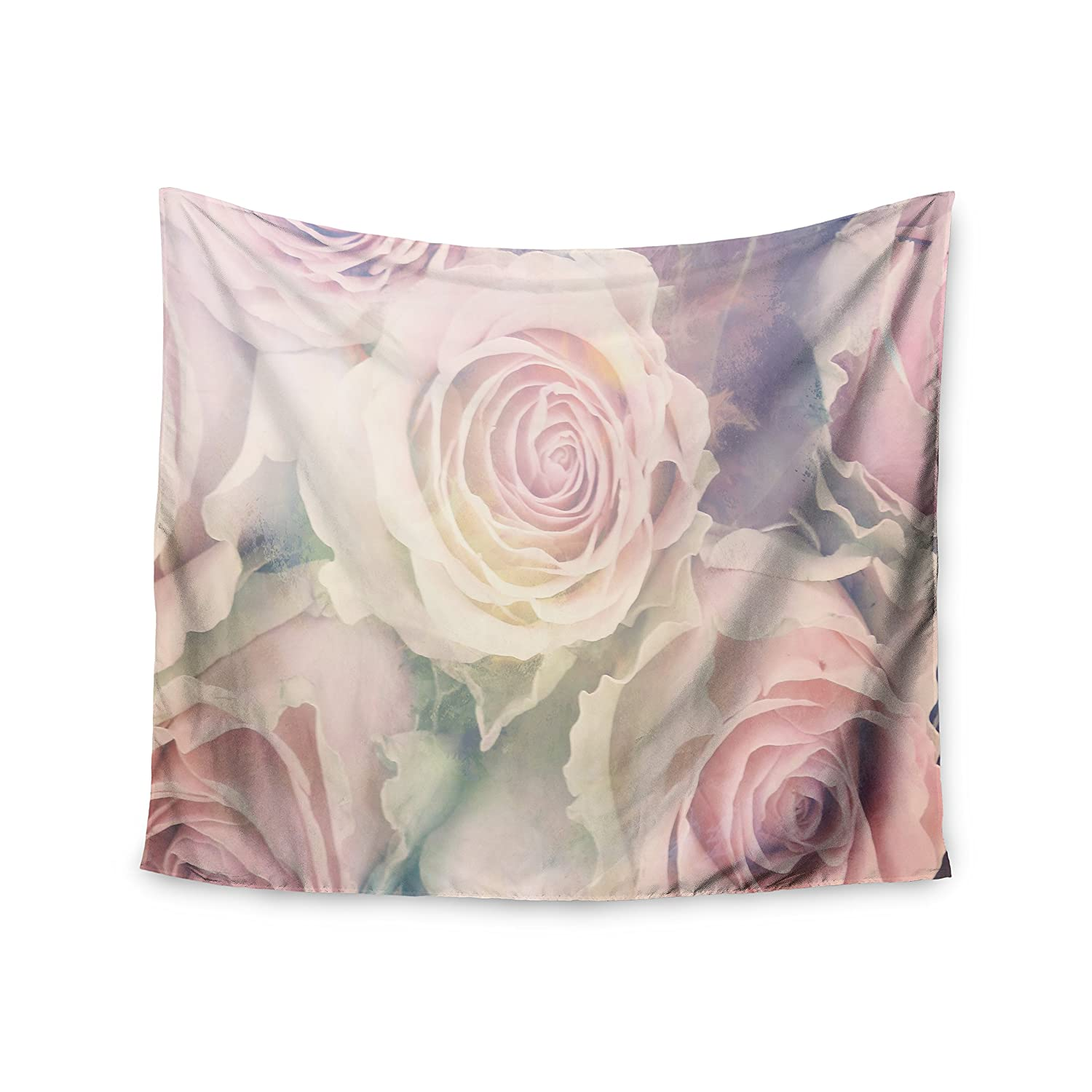 51 x 60 Kess InHouse Suzanne Carter Faded Beauty Blush Floral Wall Tapestry