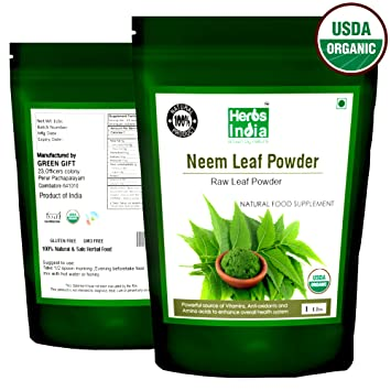 Organic Neem Powder 16 Ounces(1 Pound) - USDA Certified Organic  No  Preservative and all Natural -