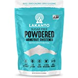Lakanto Monkfruit Sweetener, 1:1 Powdered Sugar Substitute, Keto, Non-GMO (1.76 lbs)