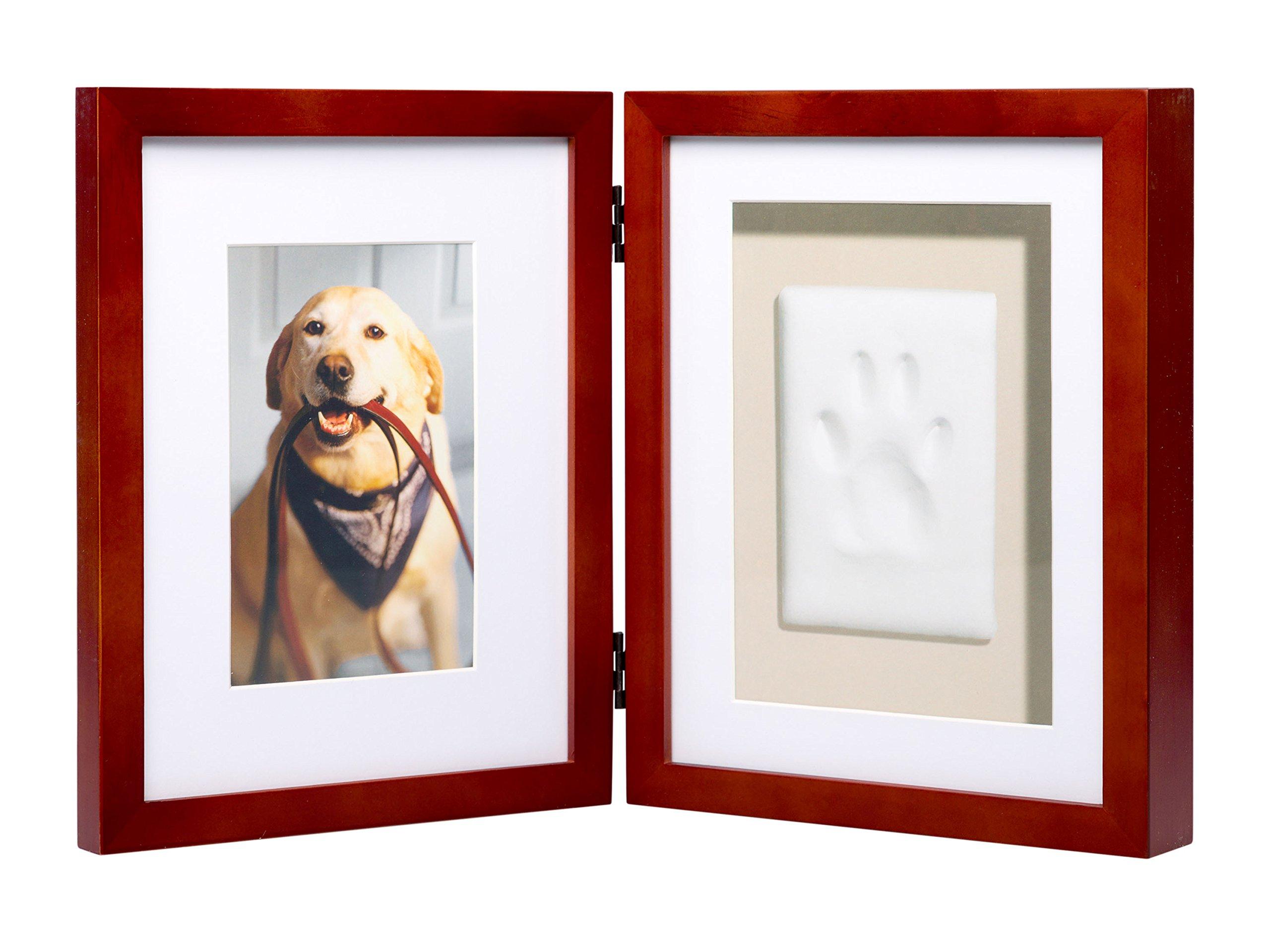 Pearhead Pawprints Pet Memorial Desk Frame, Mahogany