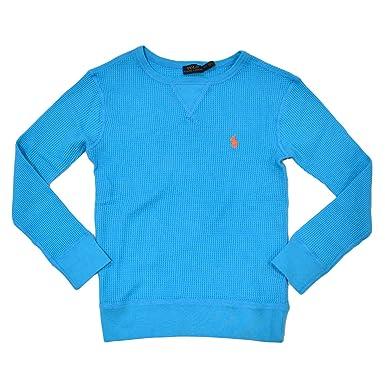 Women's Polo Ralph Shirt Knit Long Sleeve Lauren Waffle Top qUVMpSzG