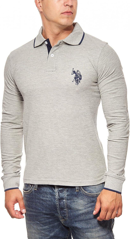 U.S. Polo Assn. Camiseta Hombre lässiges Polo Manga Larga Regular ...