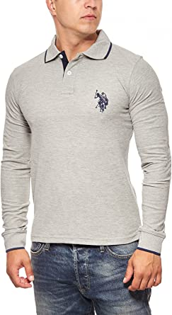 U.S. Polo Assn. Camiseta Hombre lässiges Polo Manga Larga Regular ...