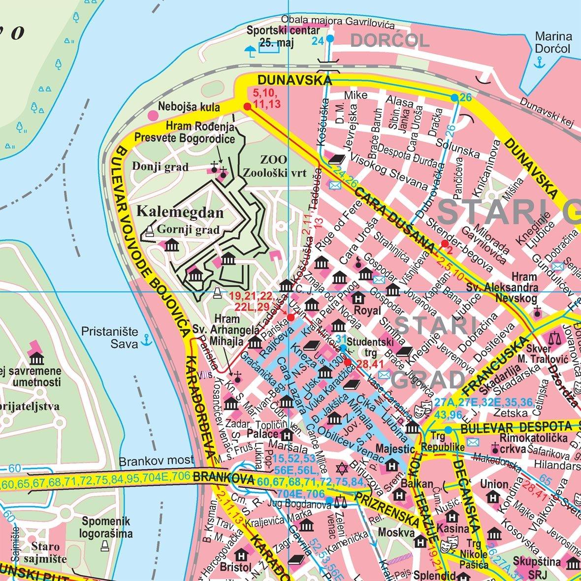belgrade city map gizela bassa books
