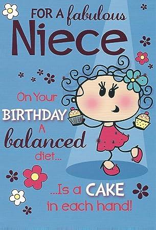 Nichte Kuchen Witzig Worte Humor Colourfull Geburtstagskarte