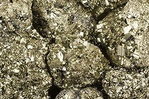 Fantasia Materials: 1/2 lb Cocada Golden Pyrite Rough Stones from Peru - Raw Natural Fools Gold