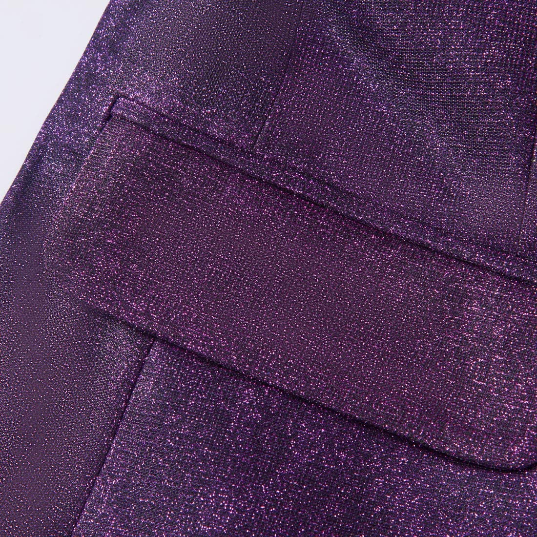 PYJTRL Mens Fashion Gradient Color Shiny Slim Fit Blazer Shawl Lapel Suit Jacket