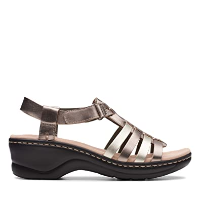 4f91ba55196 Clarks Ladies Gladiator Style Sandals Lexi Bridge - Metallic Multi Leather  - UK Size 3D -