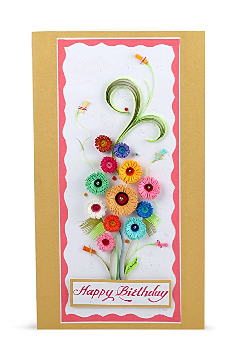 Handcrafted Emotions Handmade Birthday Greeting Card Amazonin Office Products