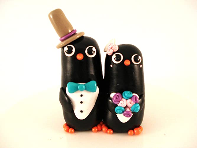 Amazon.com: Penguin Wedding Cake Toppers: Handmade