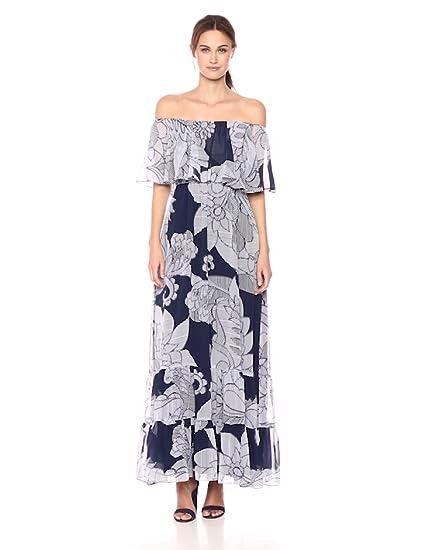 8d129692d8aa Donna Morgan Women's Off The Shoulder Maxi Dress at Amazon Women's Clothing  store:
