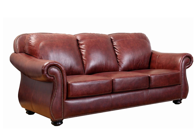 abbyson living harbor premium semi aniline leather sofa. Black Bedroom Furniture Sets. Home Design Ideas